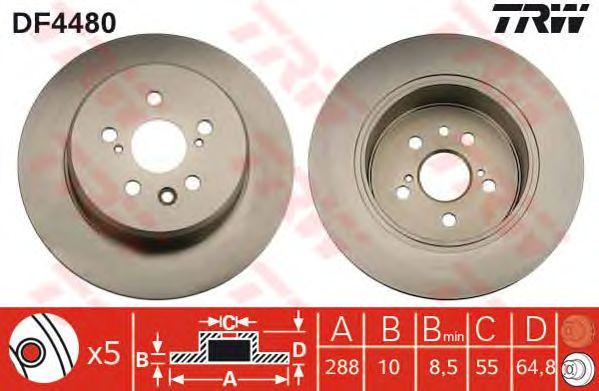 Тормозной диск TRW DF4480