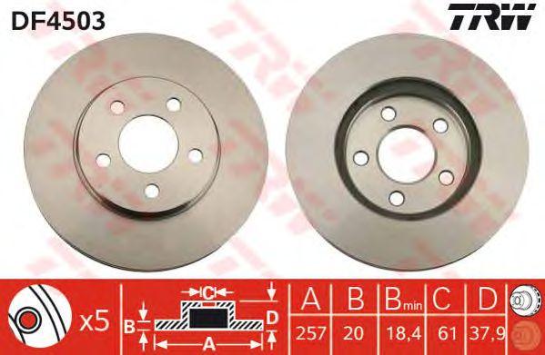 Тормозной диск TRW DF4503