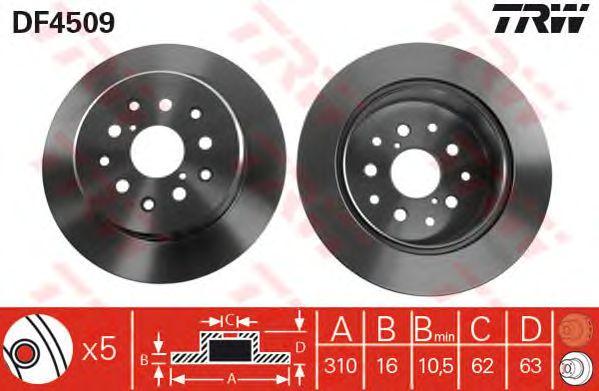 Тормозной диск TRW DF4509