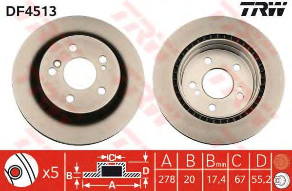 Тормозной диск TRW DF4513