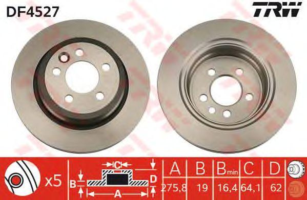 Тормозной диск TRW DF4527
