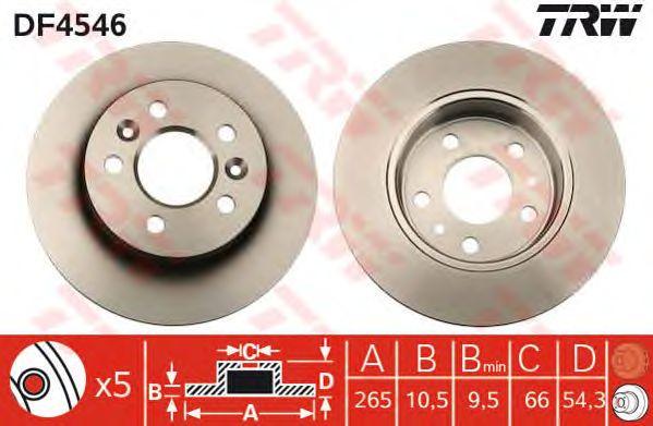 Тормозной диск TRW DF4546