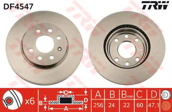 Тормозной диск TRW DF4547