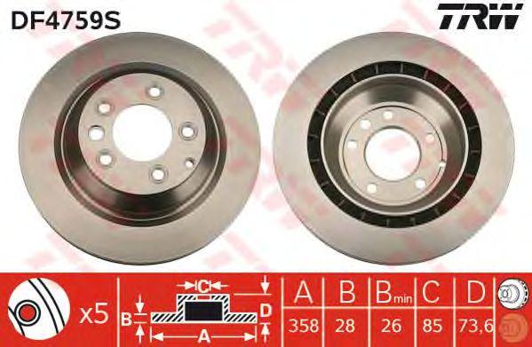 Тормозной диск TRW DF4759S