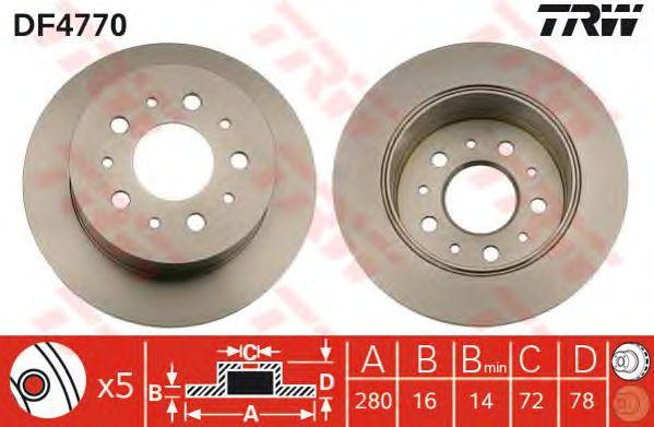 Тормозной диск TRW DF4770