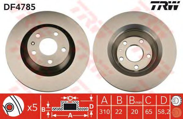 Тормозной диск TRW DF4785