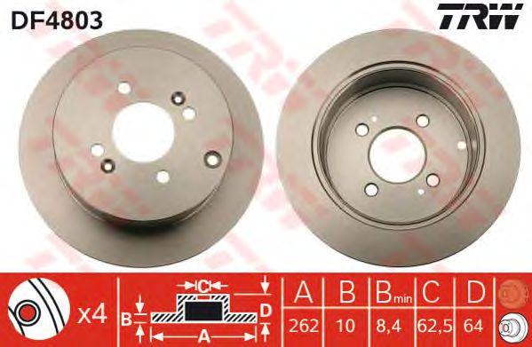 Тормозной диск TRW DF4803