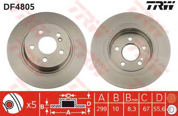Тормозной диск TRW DF4805