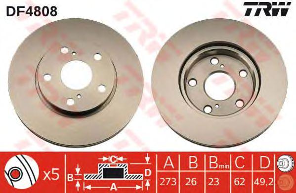 Тормозной диск TRW DF4808