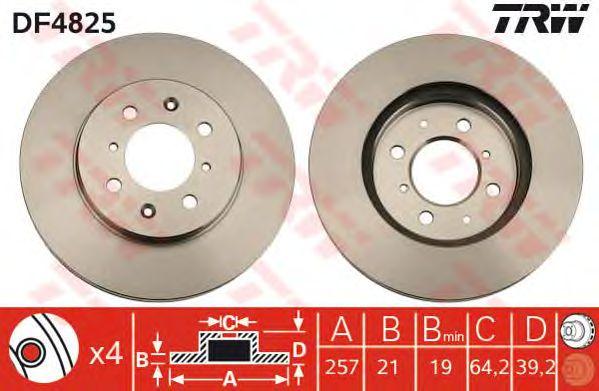 Тормозной диск TRW DF4825