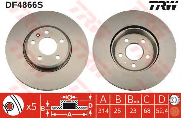 Тормозной диск TRW DF4866S