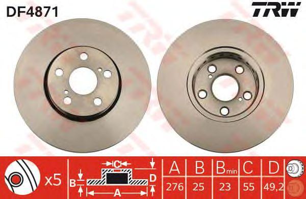 Тормозной диск TRW DF4871