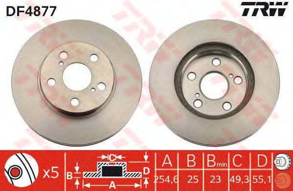 Тормозной диск TRW DF4877