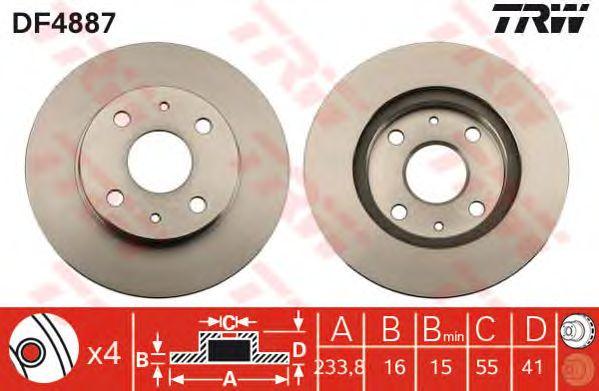 Тормозной диск TRW DF4887
