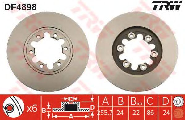 Тормозной диск TRW DF4898