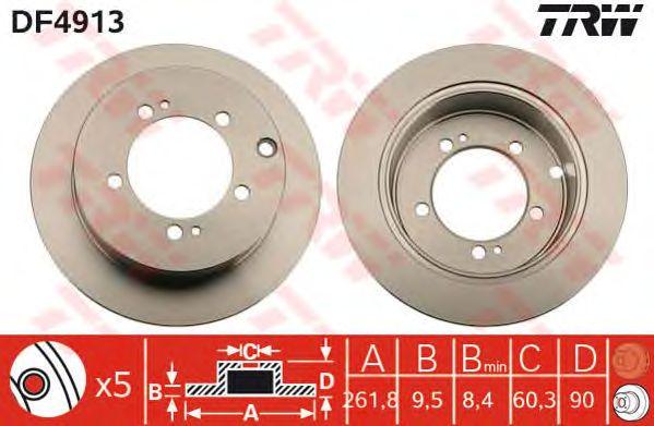 Тормозной диск TRW DF4913