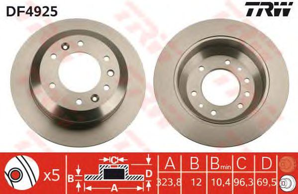 Тормозной диск TRW DF4925