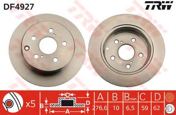 Тормозной диск TRW DF4927