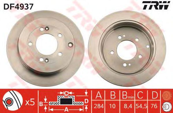 Тормозной диск TRW DF4937