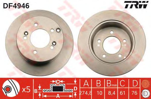 Тормозной диск TRW DF4946
