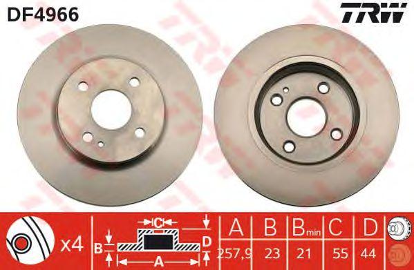 Тормозной диск TRW DF4966