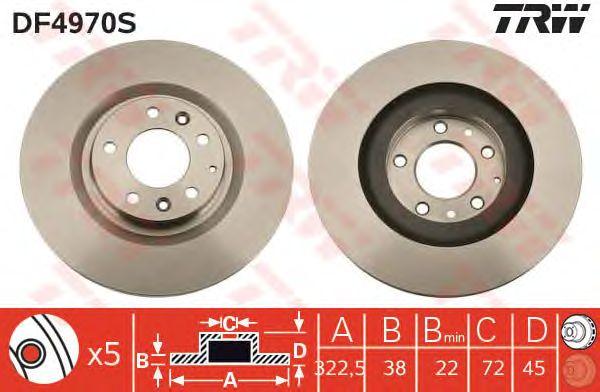 Тормозной диск TRW DF4970S