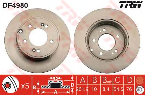 Тормозной диск TRW DF4980