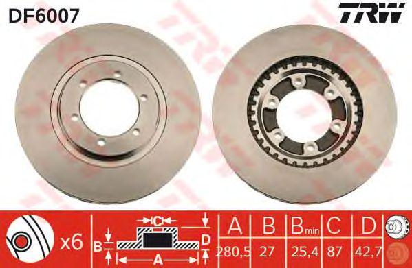 Тормозной диск TRW DF6007