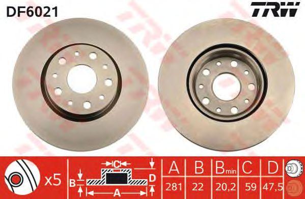 Тормозной диск TRW DF6021