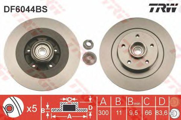 Тормозной диск TRW DF6044BS