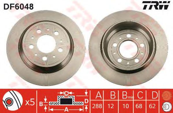 Тормозной диск TRW DF6048