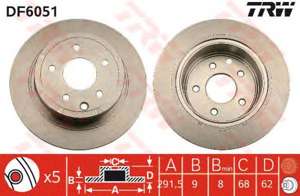 Тормозной диск TRW DF6051