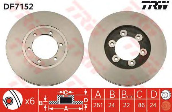 Тормозной диск TRW DF7152