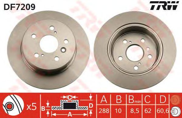 Тормозной диск TRW DF7209
