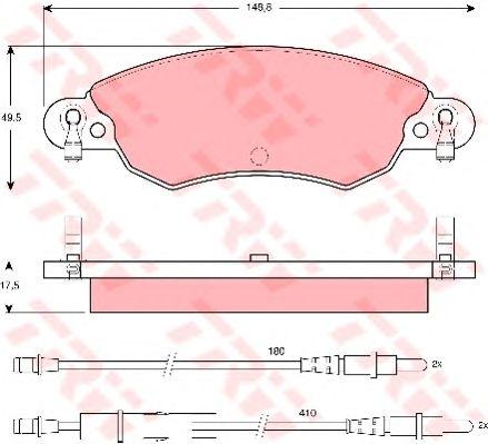 Тормозные колодки TRW GDB1447
