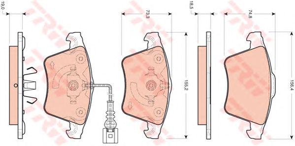 Тормозные колодки TRW GDB1721