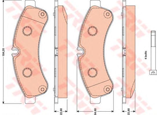 Тормозные колодки TRW GDB1780