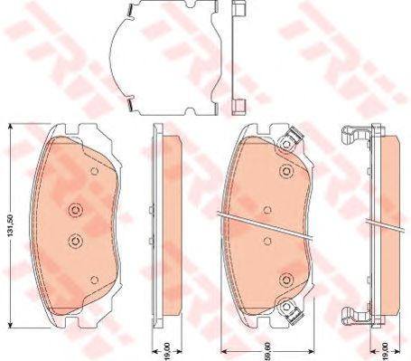 Тормозные колодки TRW GDB1782