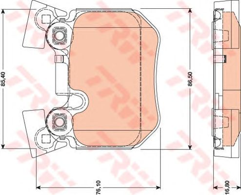 Тормозные колодки TRW GDB1795