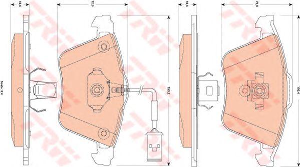 Тормозные колодки TRW GDB1832