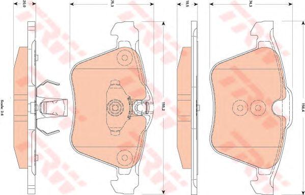 Тормозные колодки TRW GDB1835