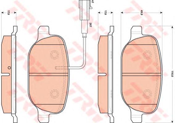 Тормозные колодки TRW GDB1851