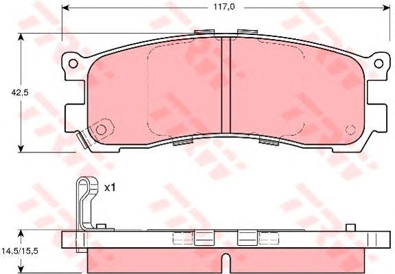 Тормозные колодки TRW GDB3179