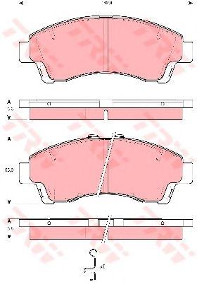 Тормозные колодки TRW GDB3321