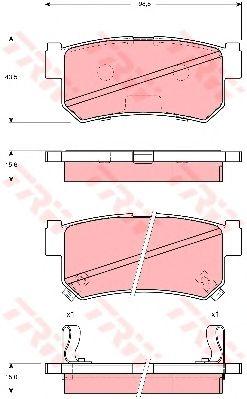Тормозные колодки TRW GDB3382