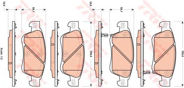 Тормозные колодки TRW GDB3503
