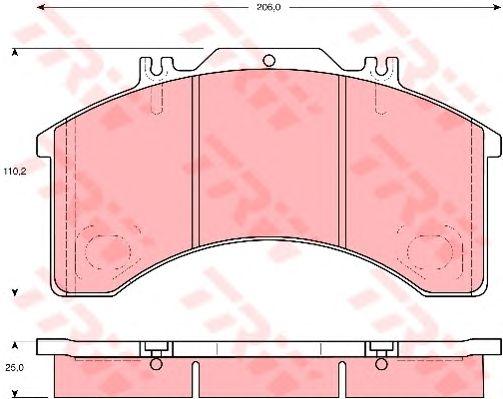Тормозные колодки TRW GDB5022