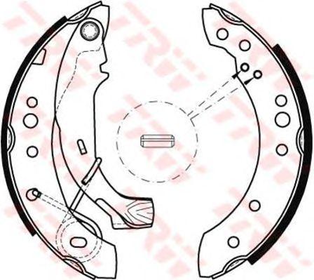 Тормозные колодки TRW GS8467