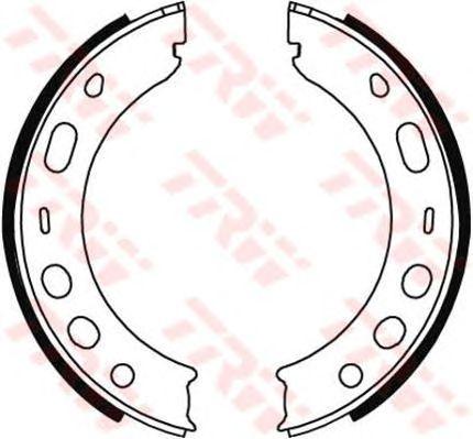 Тормозные колодки ручника TRW GS8706