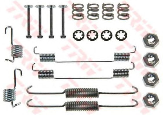 Монтажный комплект тормозных колодок TRW SFK168